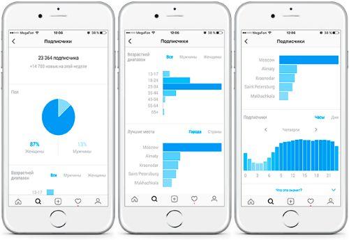 Статистика бизнес аккаунта в Инстаграм