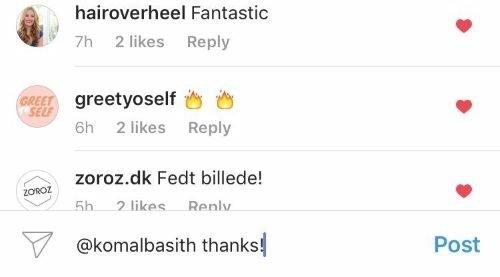 Комментарии в Инстаграме