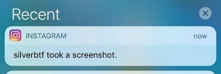Кто делал скриншот в Инстаграм